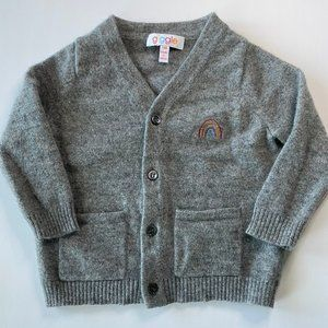 Lk new gray CASHMERE CARDIGAN by Giggle, 12 MO